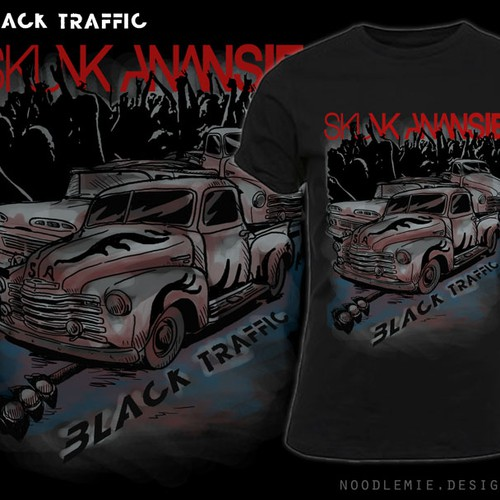 T-shirt design for rock band, Skunk Anansie