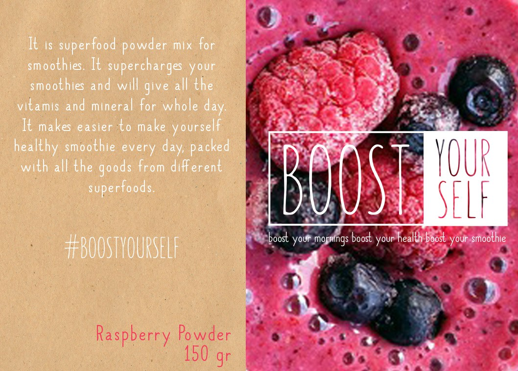 Create simple logo for smoothies powder mix