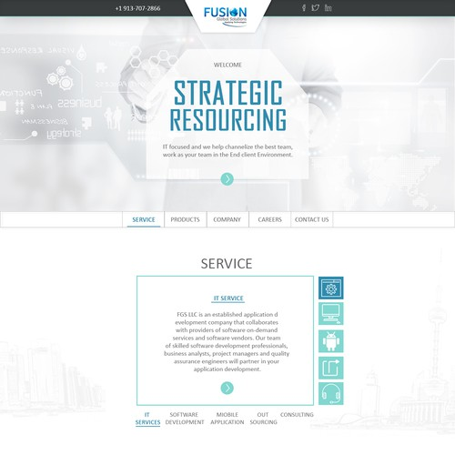 landing page for cloud service and other
