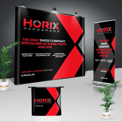 Horix Aerospace trade show booth