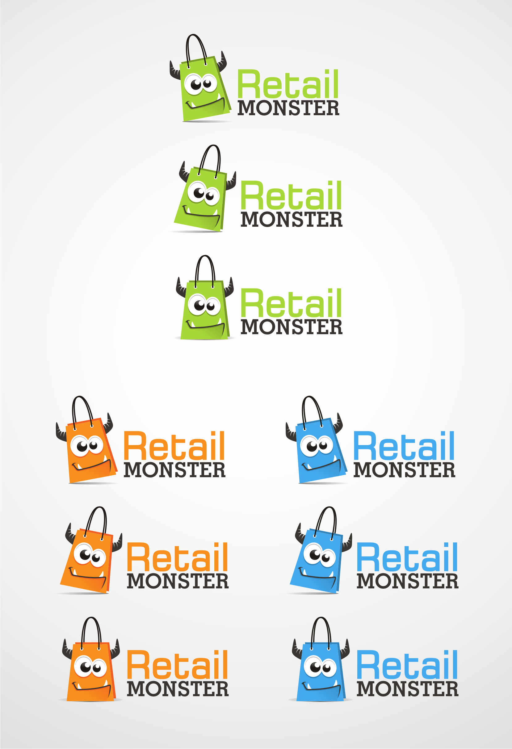 Become a MONSTER by designing a company logo - Simple, Integrated, and clean