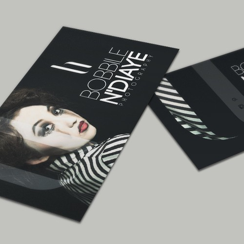 Bold, edgy business card for a fashion photographer