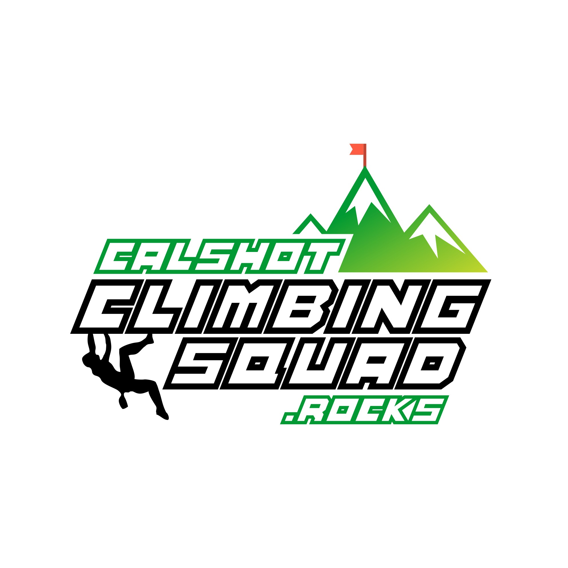 Create an exciting and professional rock climbing squad logo