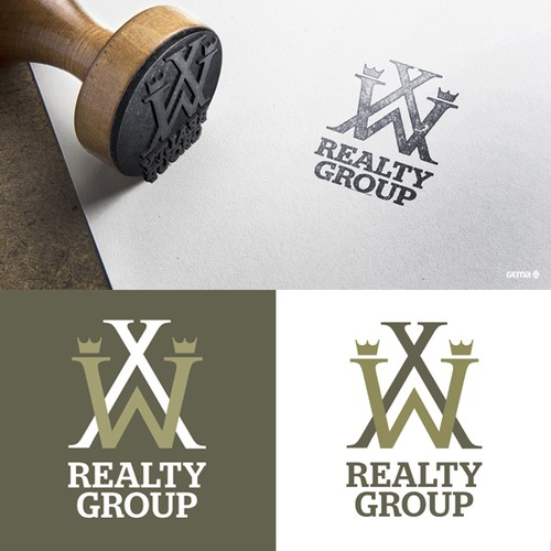 Monogram logo design for Real Estate