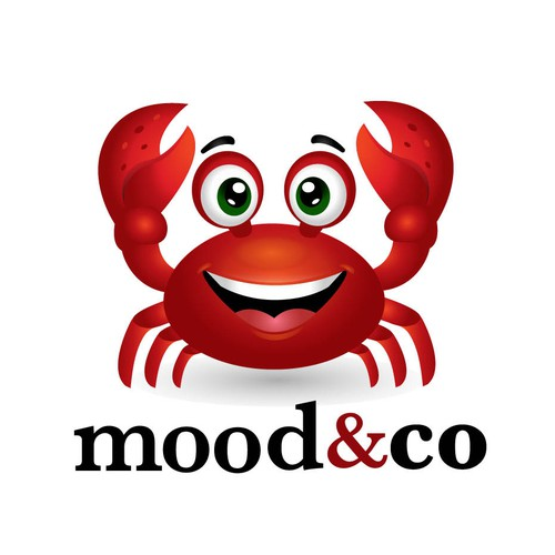 Crab logo for a biohacking beverage