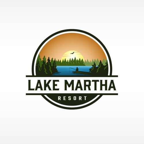 Logo for Waterfront Camping Resort for RV's, tents & AirBnb