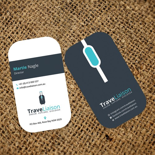 "Business Card for ""TraveLiaison"""