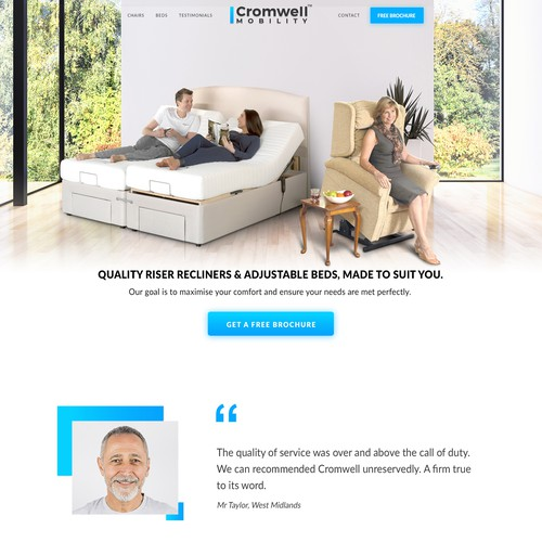 Clean Webdesign for High-End Mobility Furniture Company