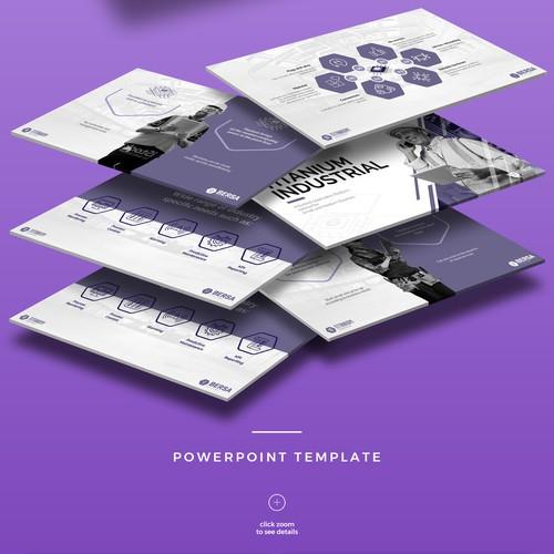 Presentation Design for Titanium Industrial