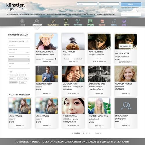 "User Overview for ""künstler.tips"""