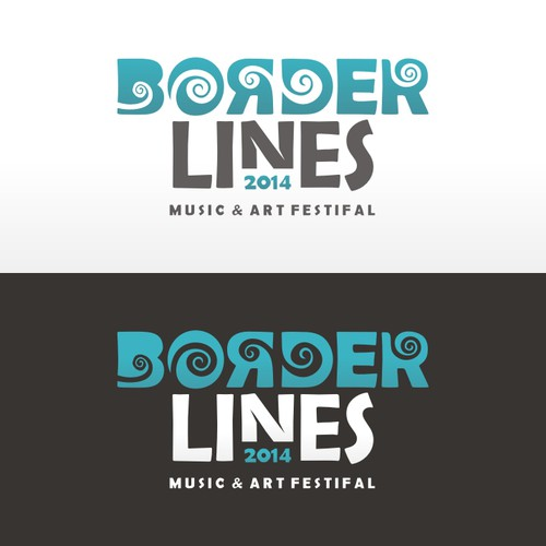Logo concept for Borderlines Music & Art Festival