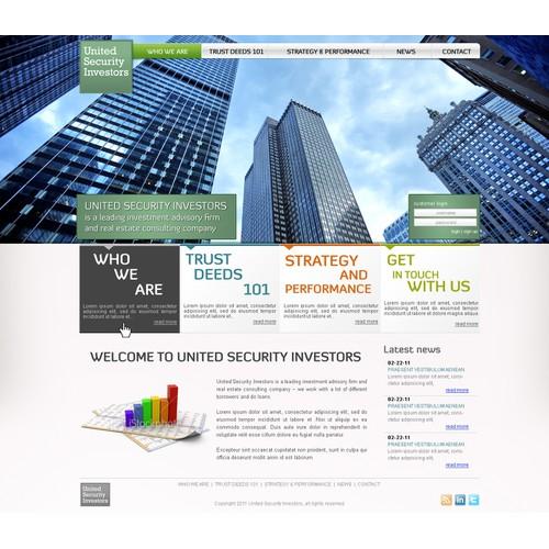 Website Design: United Security Investors (Financial Advisors)
