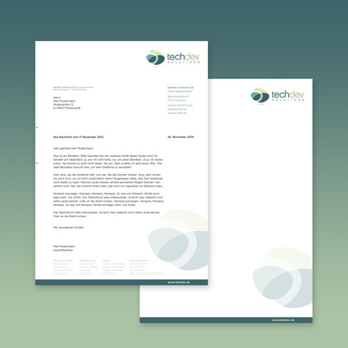 Letterhead for a Tech Company
