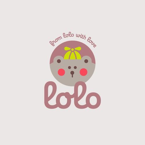 """Lolo"" baby logotype."