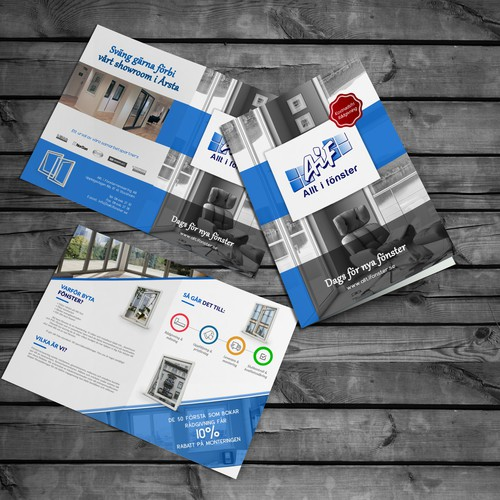 small brochure for our company in the window business!