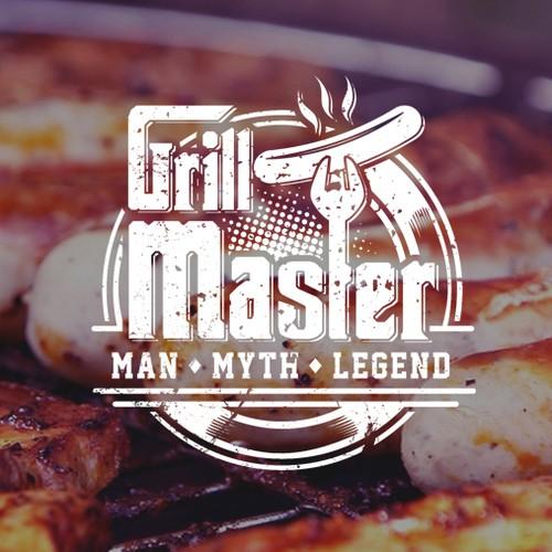"Grill Master "" Apron Logo designs """