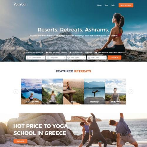 Yoga's tours web page