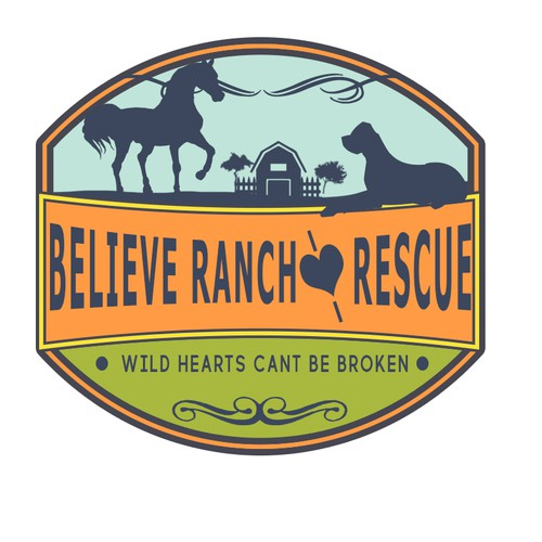 Concept logo for a resue ranch