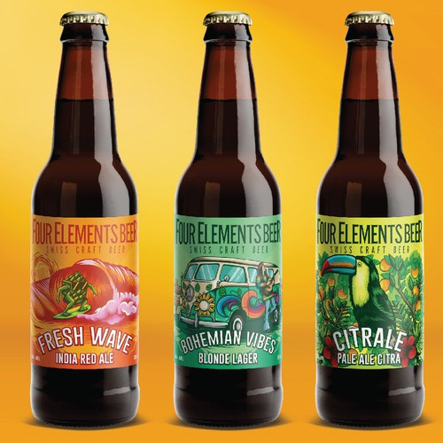 four elements beer label