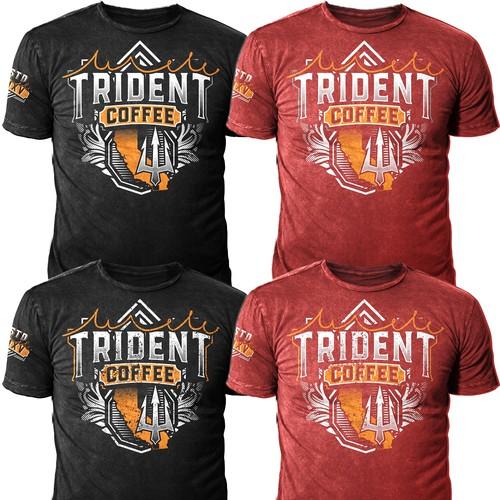 "Tshirt Design for ""Trident Coffee"""