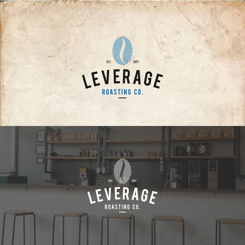 Leverage Roasting Logo design