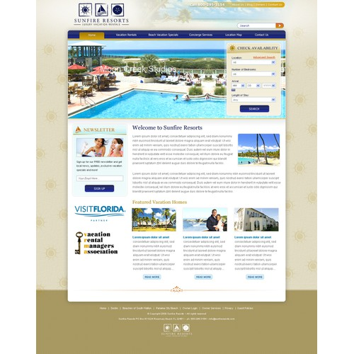 Website for Vacation Rental Company