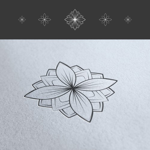 Create a geometric design inspired by the universe for Botanical Creations