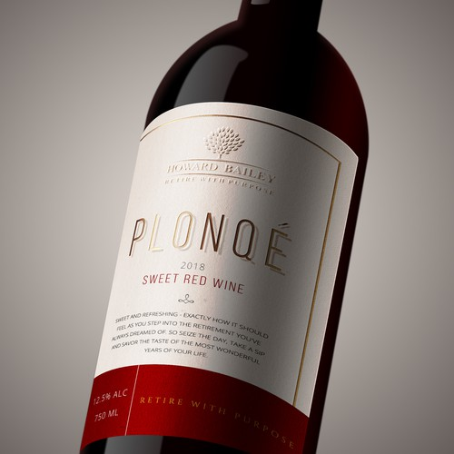Wine label design for Howard Bailey