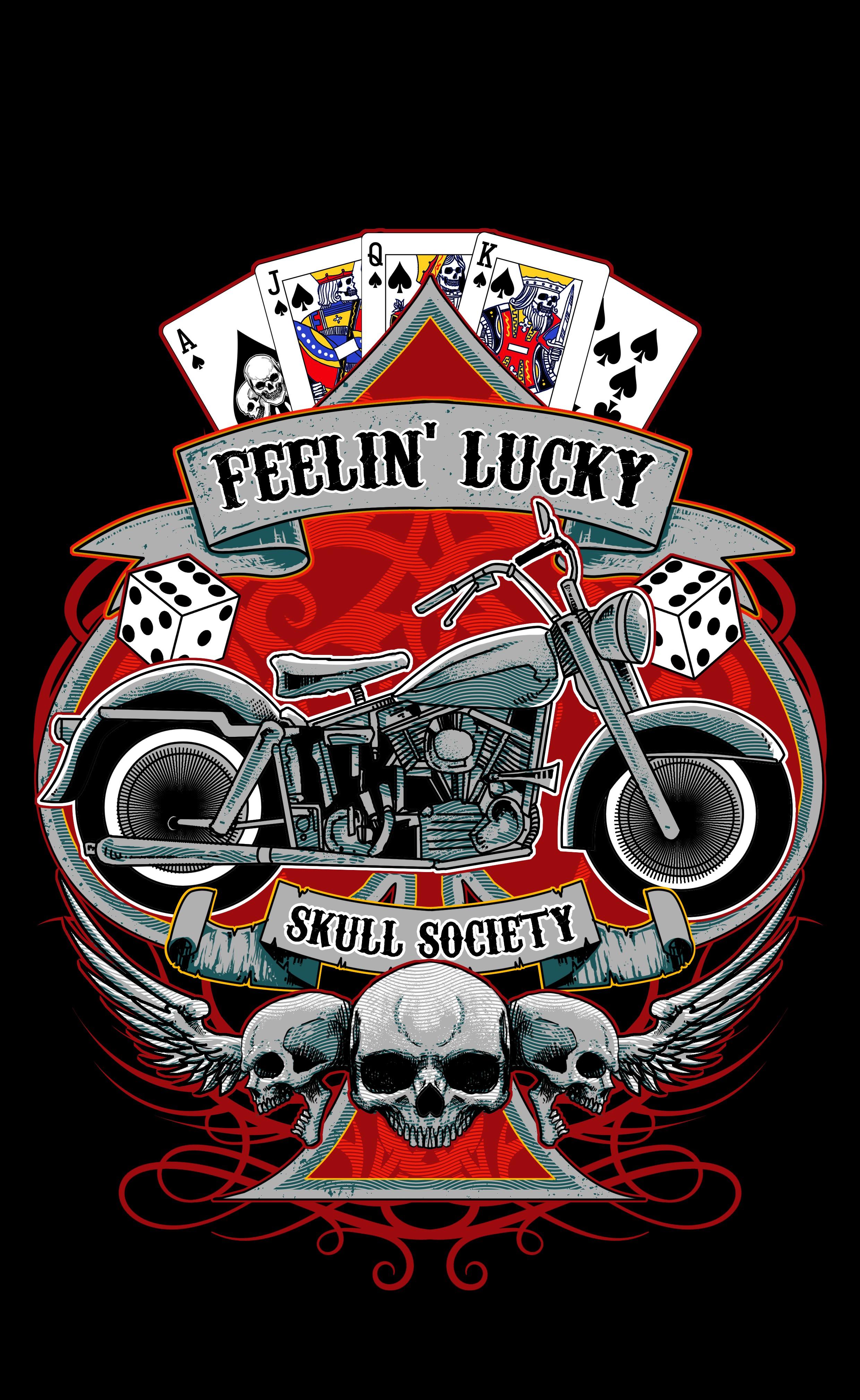 Design A Men's Motorcycle & Poker T-shirt