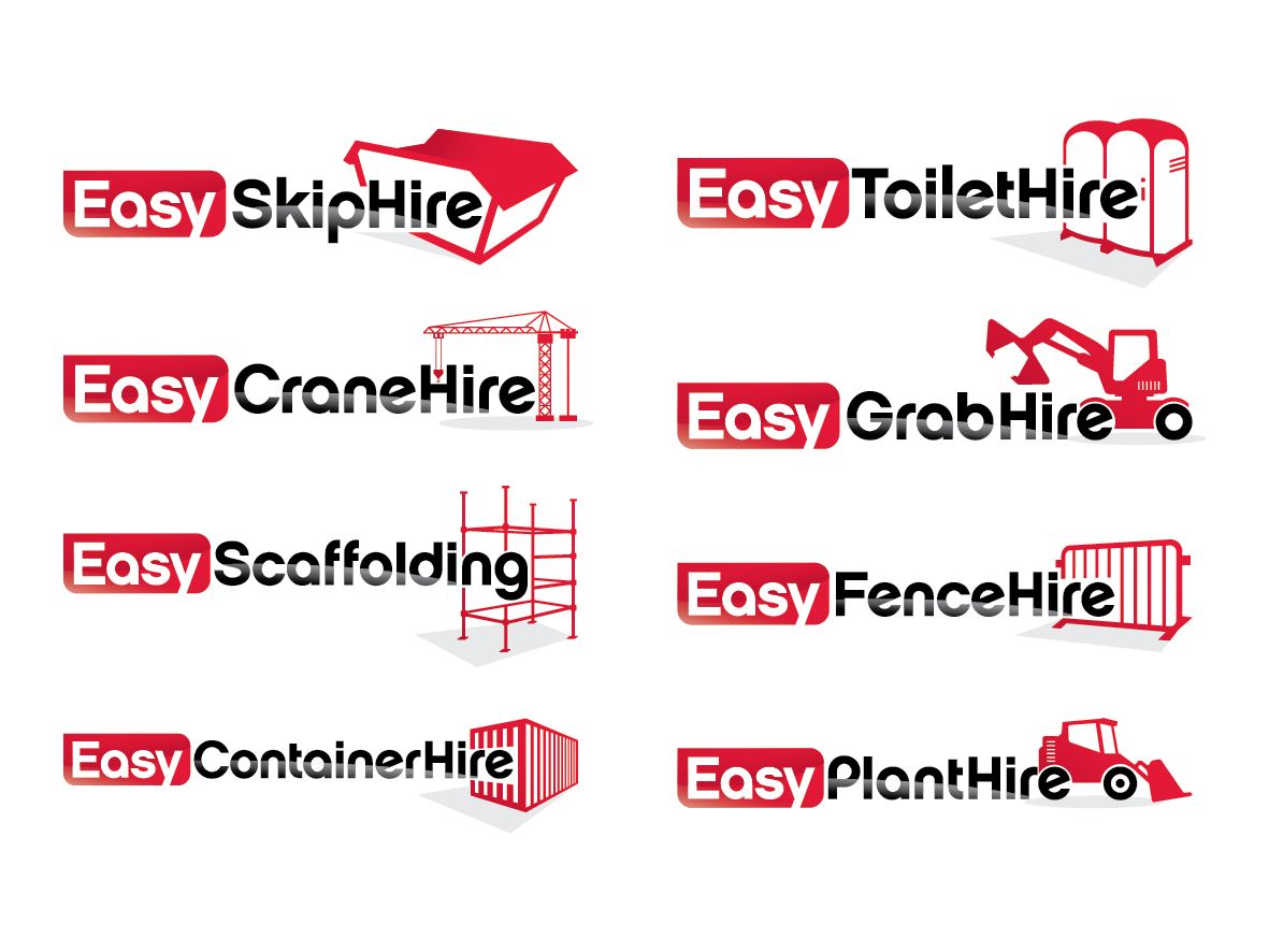Easy SkipHire logo design, potential to upgrade to full site design.