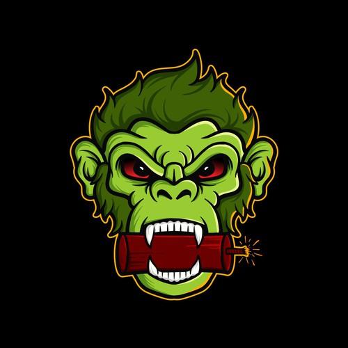 Angry Monkey (unused design)