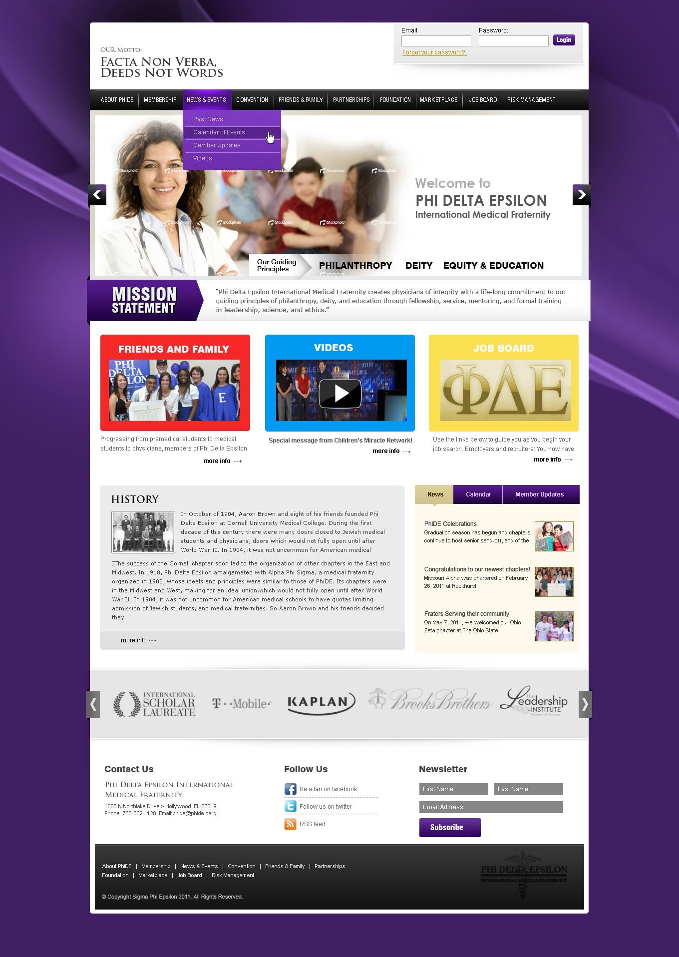 New website design wanted for Phi Delta Epsilon