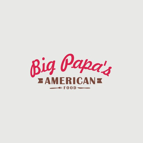 American Popular Food Restaurant Logo
