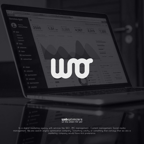 logo concept for online marketing firm