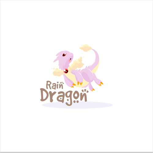 Rain Dragon Logo design.