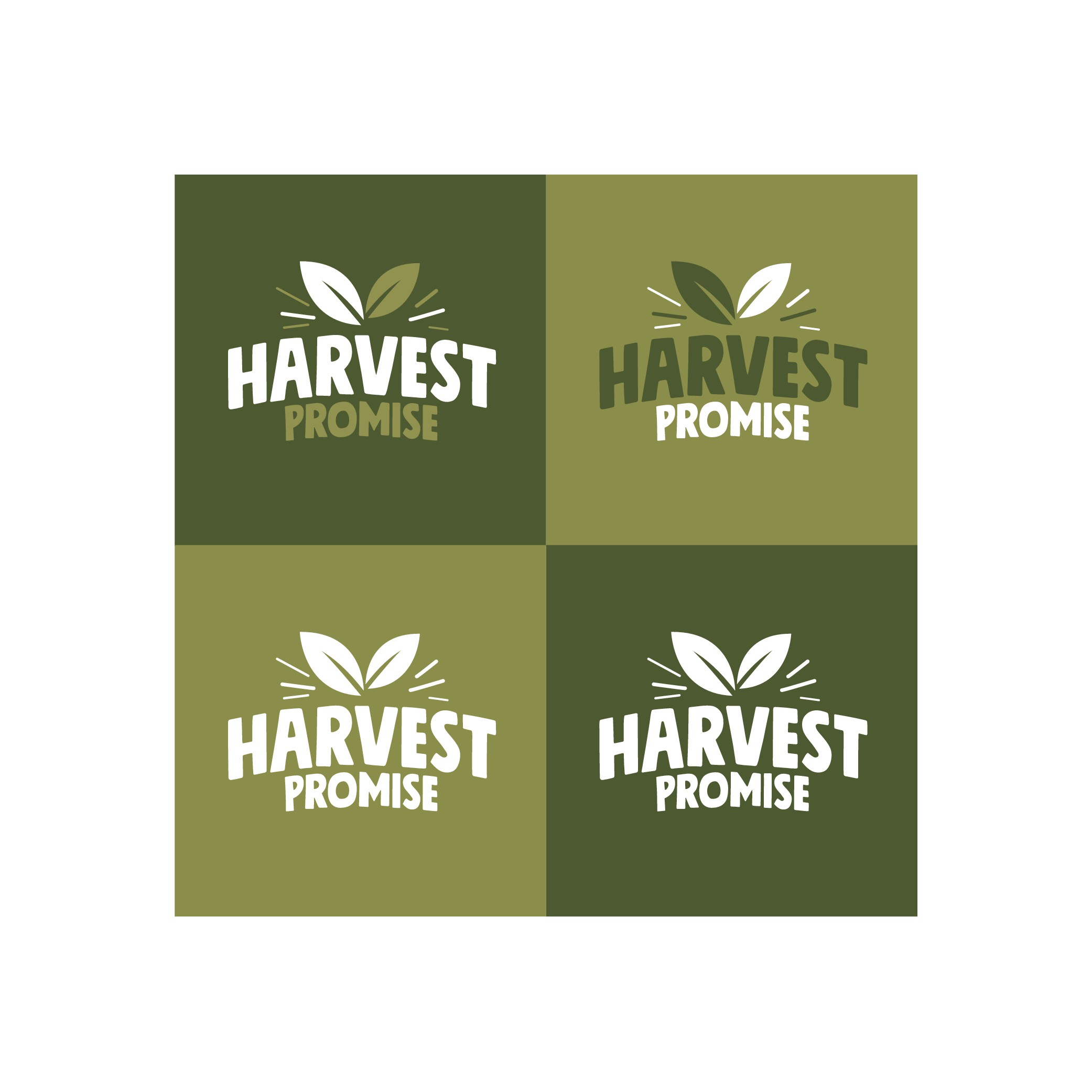 Harvest Promise New Food Brand Logo Design