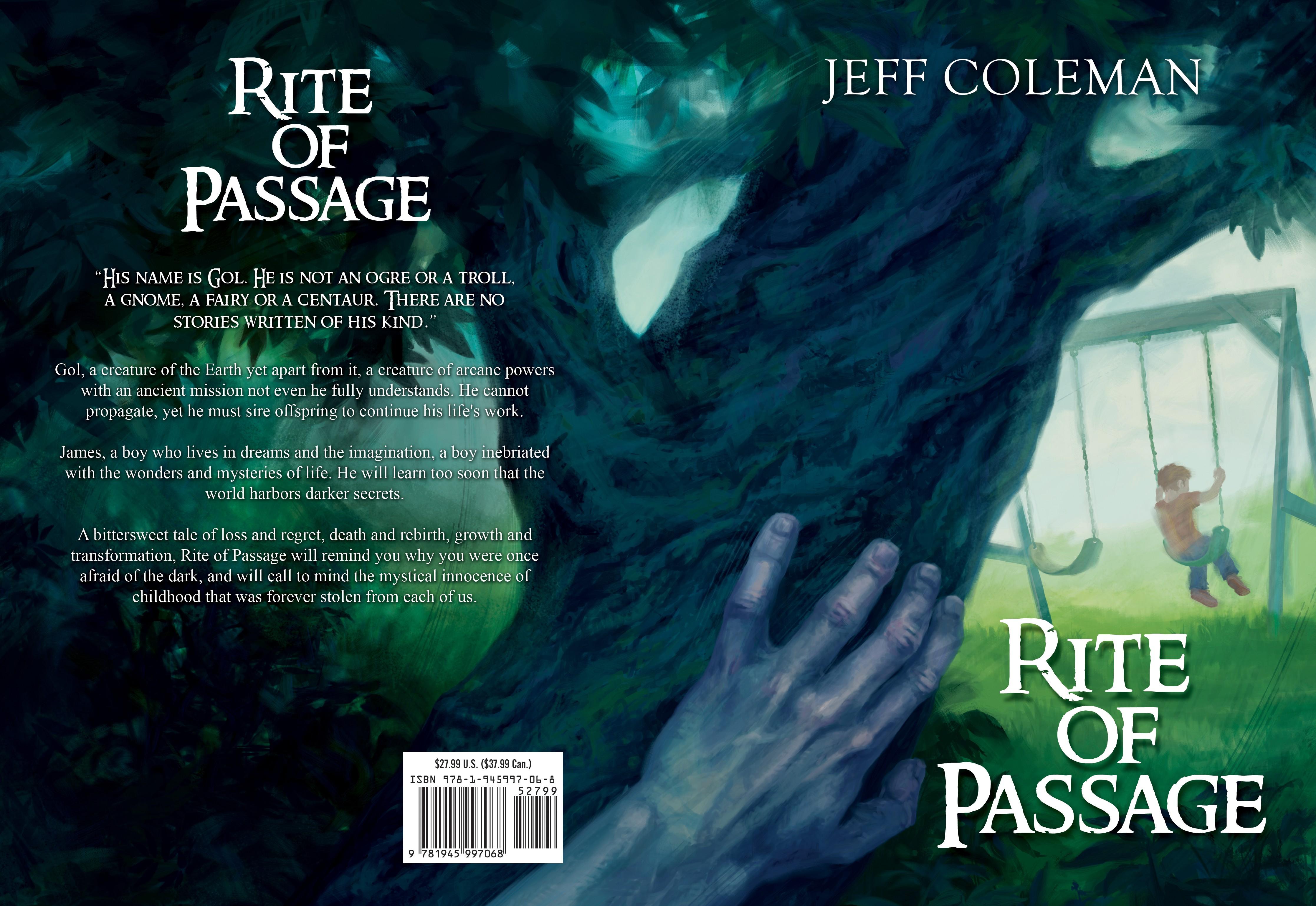 Cover design for dark fantasy (art provided)