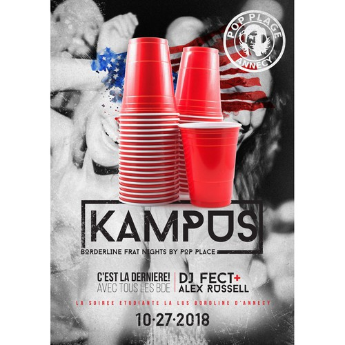 Kampus Frat Party Poster