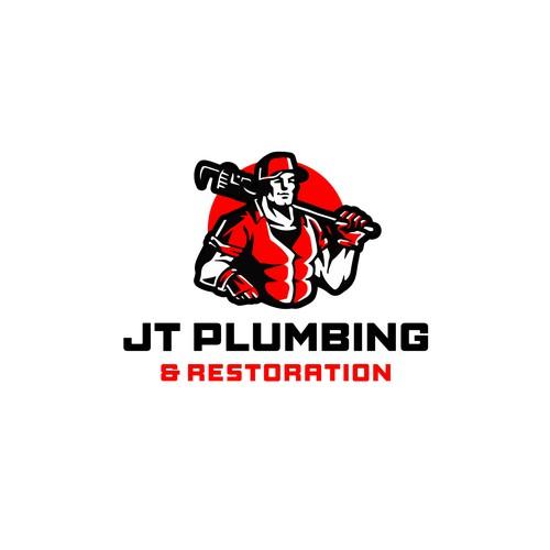 Character logo design for JT Plumbing