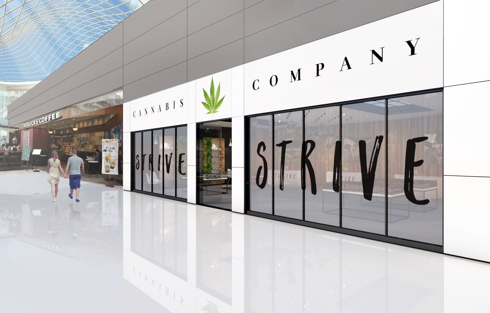 STRIVE Dispensaries Retail 3-D Renderings