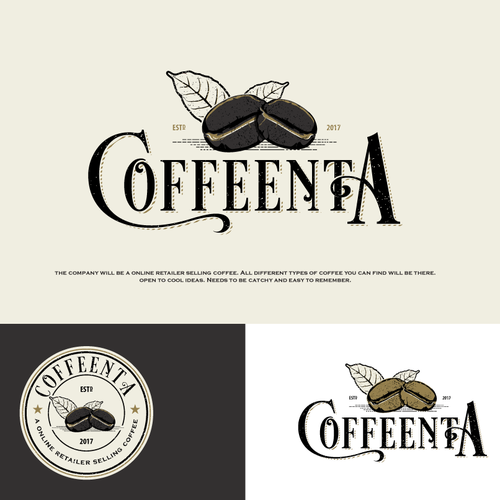 "Bold Logo For ""coffee retailer company"""