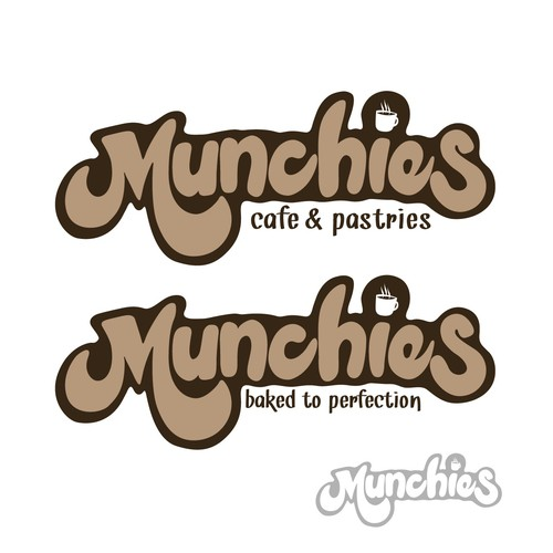 Munchies Cafe & Pastries needs logo design for small kiosk catering to the working class