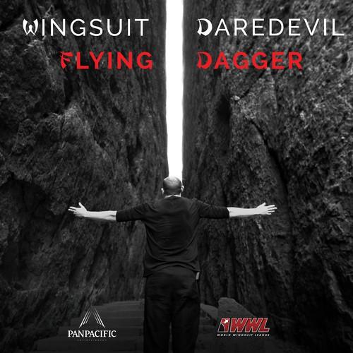 """Poster for """"Wingsuit Daredevil - Flying Dagger"""" documentary film."""