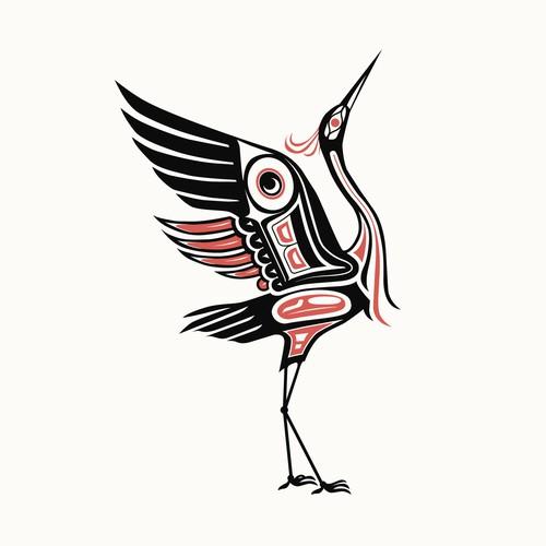 NORTHWEST NATIVE ART BIRD