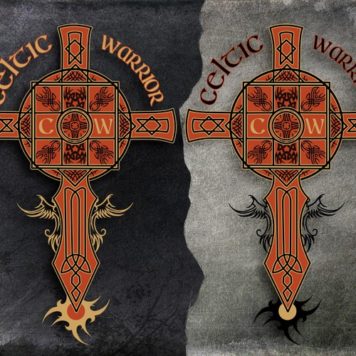Celtic warrior shirt design 2