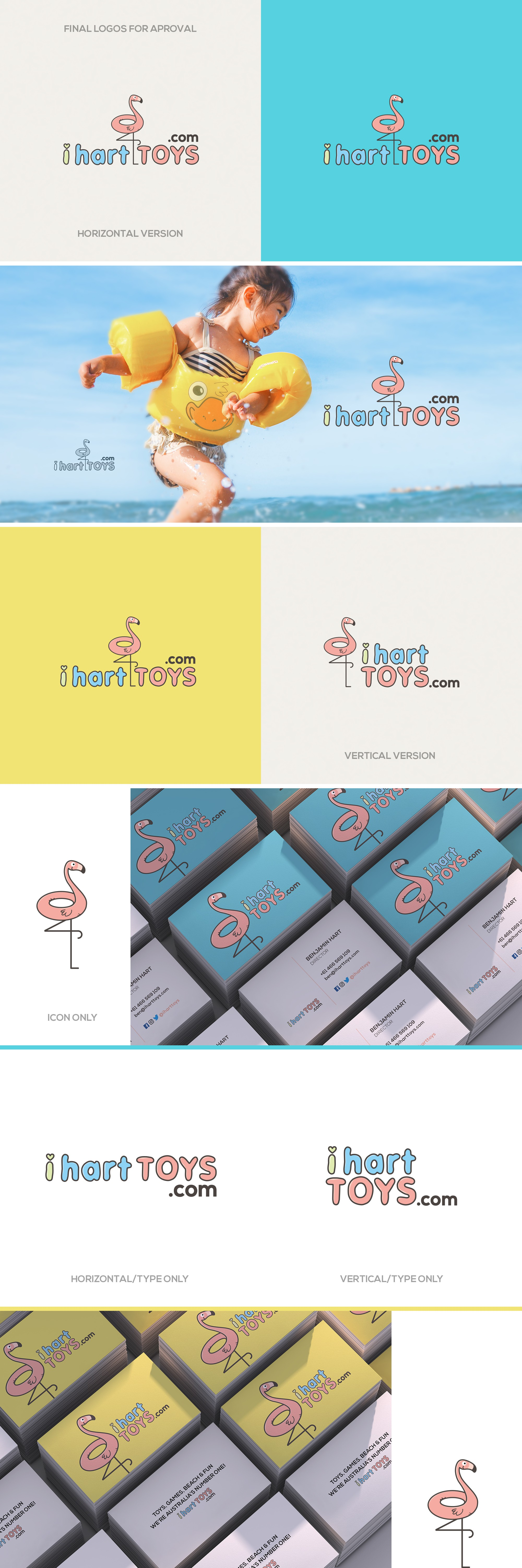 Design a fresh, modern and super cool logo/ business card for our online TOYS retail business
