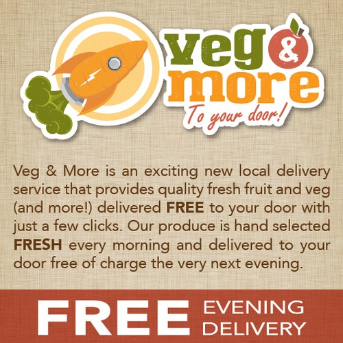 Veg & More needs an eye catching leaflet design!