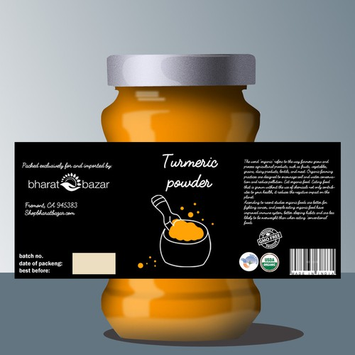 Turmeric Powder label