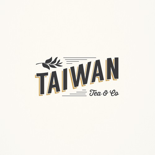 Trendy tea company logo