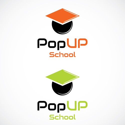 Popup School (workshops for adults) needs a funky logo